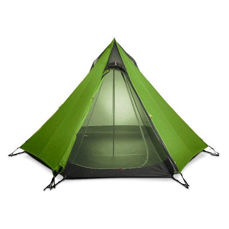 FLAME'S CREED Ultra-Léger En Plein Air Camping Tipi 15D Silnylon Pyramide Tente 2-3 Personne Grand UL Vitesse Tente Randonnée Randonnée tentes