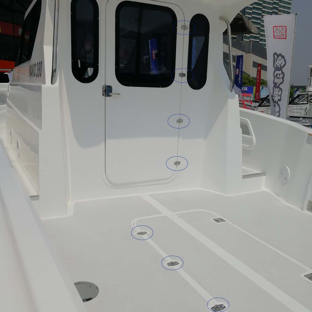 Купить с кэшбэком 5 Pcs Boat Hinge 316 Stainless Steel Strap Hinge Door/Window/Cabinet/Deck Hinge Flush Mount For Marine Yacht RV Camper  38*76mm