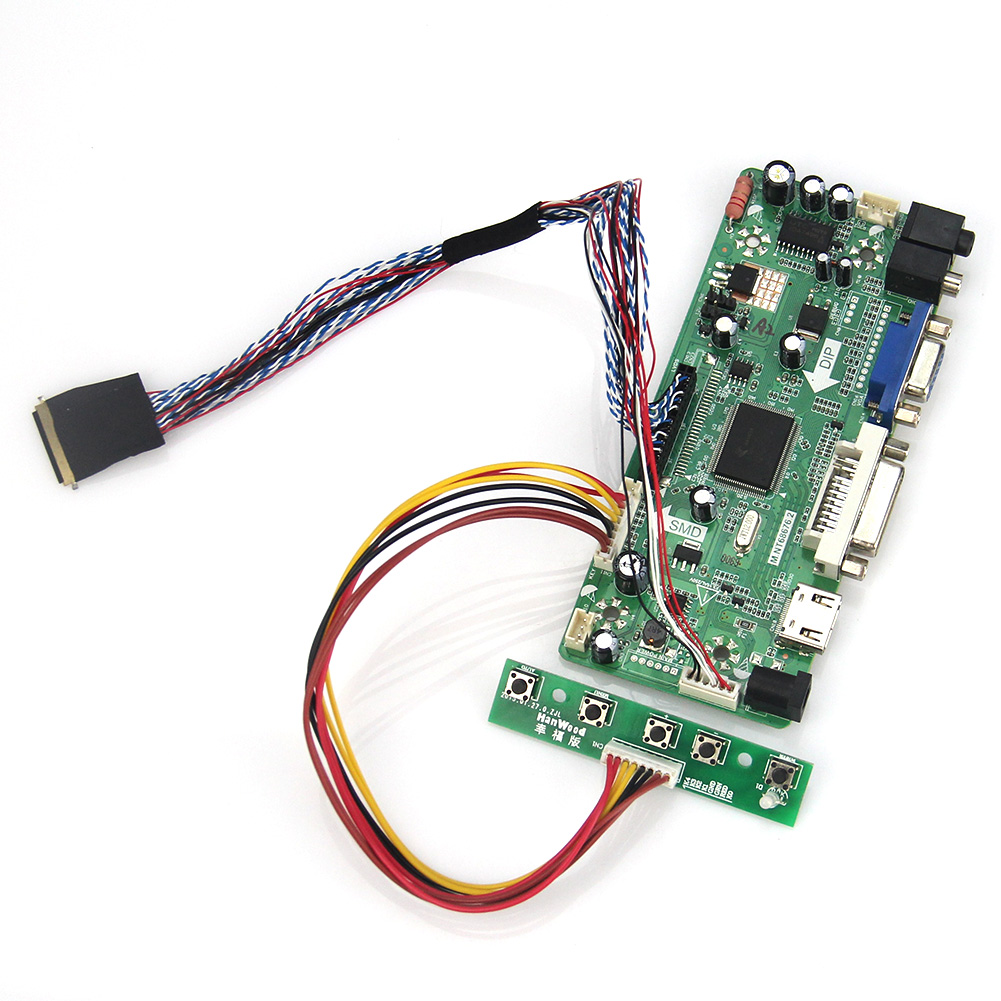 M.NT68676 LCD/LED Controller Driver Board(HDMI+VGA+DVI+Audio) For B140RW02 V0 LP140WD2 1600x900 LVDS Monitor Reuse Laptop