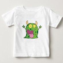 Boys Girls T-shirts Cartoon Tongue MONSTER t shirt Childrens summer Short Sleeve Cotton T shirts baby monster Tees Tops 2-15Y