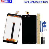 Mcdark 5.0 inch For Elephone P8 Mini LCD Display and Touch Screen Digitizer Assembly Replacement +Tools And Adhesive Phone Parts