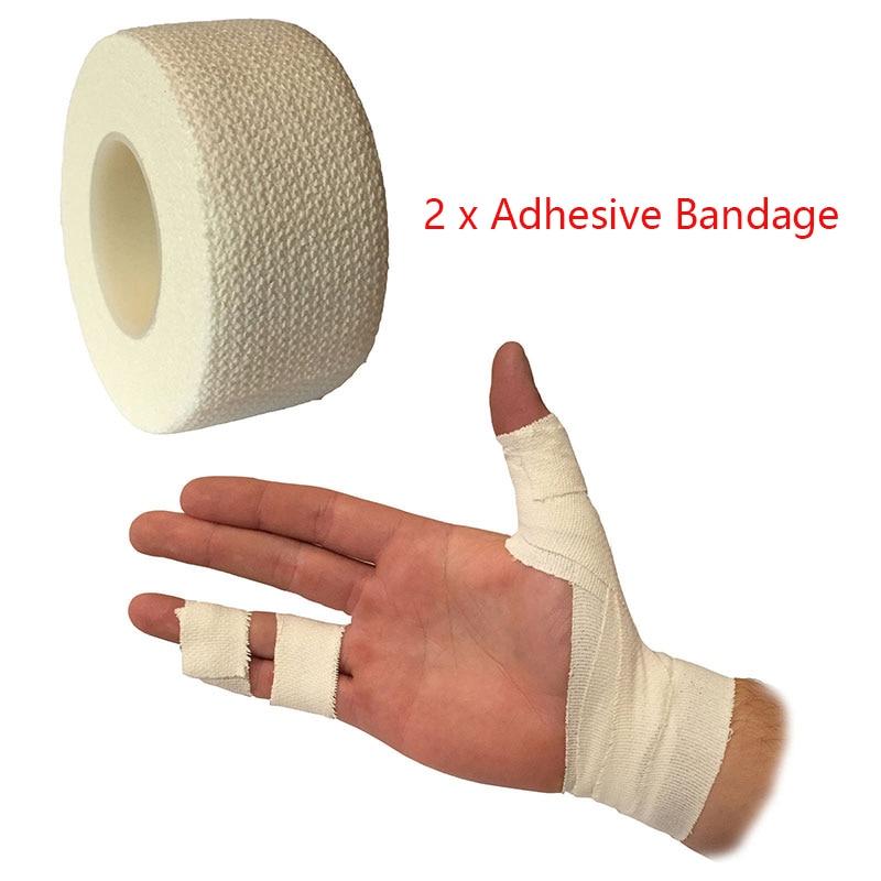 2Pcs/lot Self Adhesive First Aid Kit Bandage Elastic Stretch Wrap Tape Hand Wrist Finger Thumb Sports Home Emergency 2.5cm*4.5m