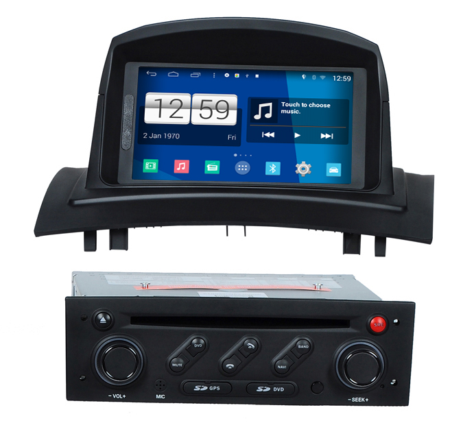 s160 quad core android 4 4 4 car audio for renault megane ii fluence car dvd player head device. Black Bedroom Furniture Sets. Home Design Ideas
