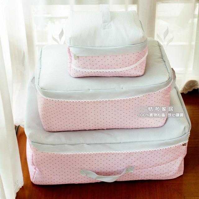 Cute Quilt Organizer Clothes Storage Bag Sponge Fabric Sorting ... : quilt storage bags - Adamdwight.com