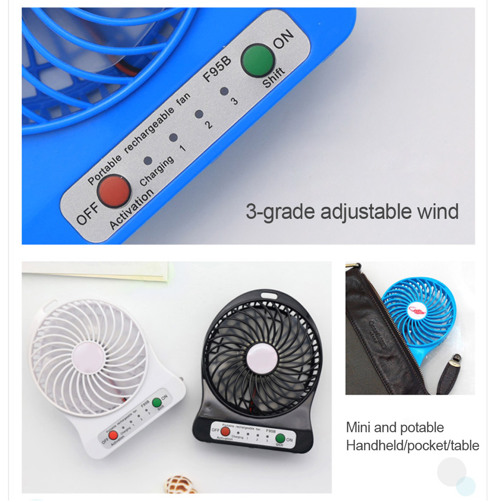 Hand Free Mini Portable Fan Battery With Colorful Lights Two Fans Hanging Around The Neck For Sport 20