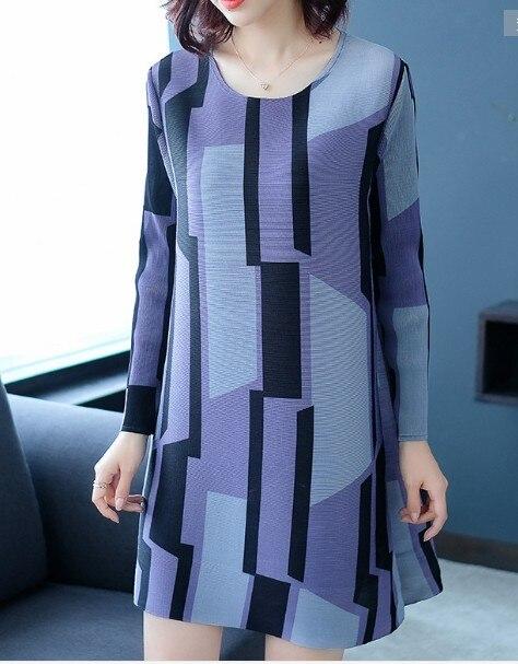 In Di Geometrica Trasporto Modo Cielo Azzurro Estate shirt Burlone T lavanda Del Nuova Magazzino Libero Stampa cachi Vita Rotondo Lunga Manica Collare 5wSvraBqwx