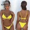 Bikini 2017 Floral Swimsuit Women Push Up Swimwear Bandeau Bathing Suit Thong Trikini Skirt Two Piece