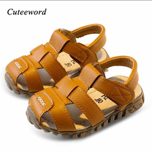 купить 2019 Summer Children Sandals for Boys Kids Shoes Brand Closed Toe Toddler Sandals Orthopedic Sport Pu Leather Boys Sandals Shoes недорого