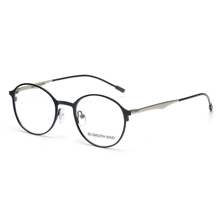 2017 New fashion round brand frame Pure hand-made alloy frame for unisex Oculos myopia prescription eyewear original package