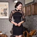spring sexy lace women dress cheongsam Chinese Evening Dress vestidos tang suit Qipao party dress size S-3XL