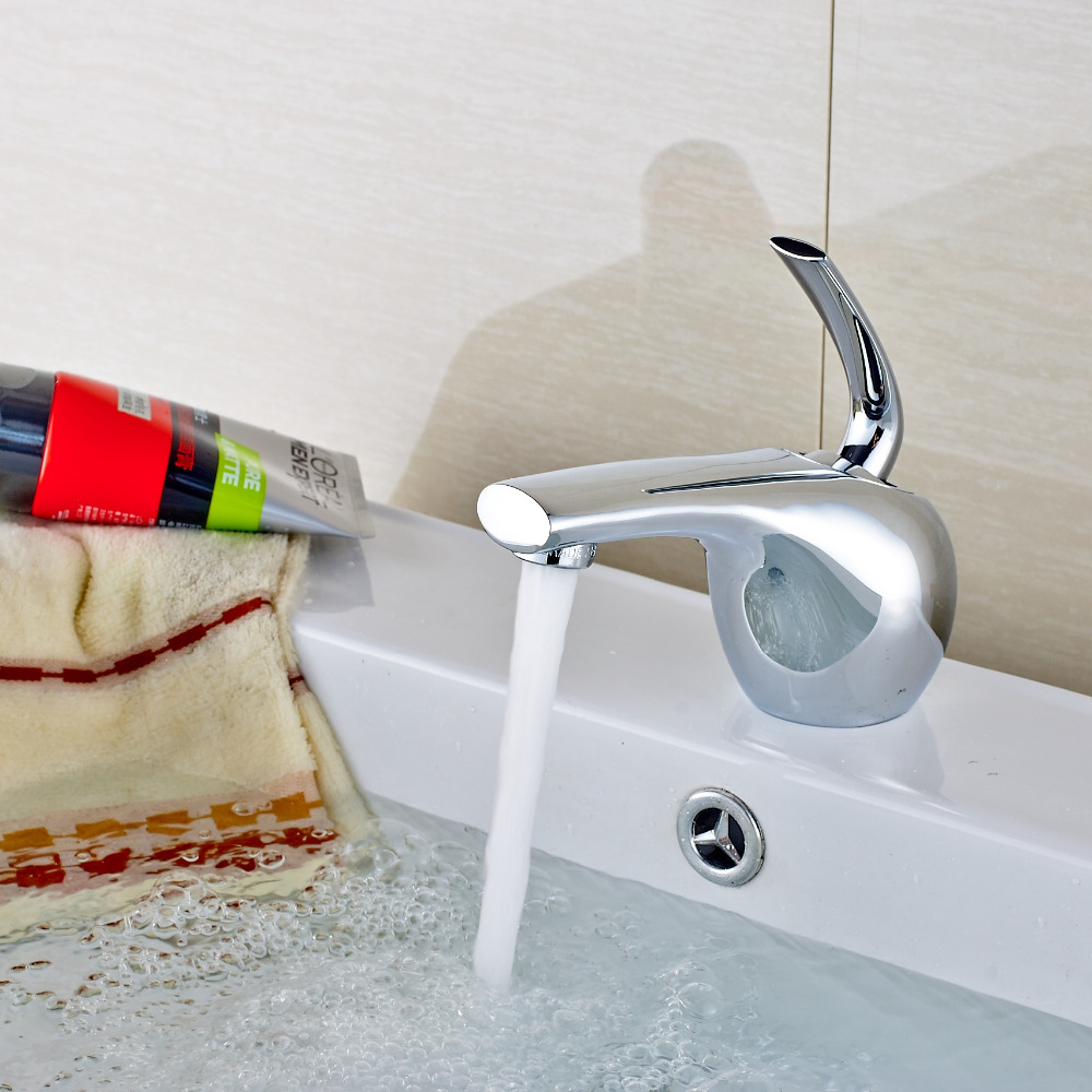 ᗛSolid Brass Chrome Bathroom Vanity Sink Mixer Tap Deck Mounted ...