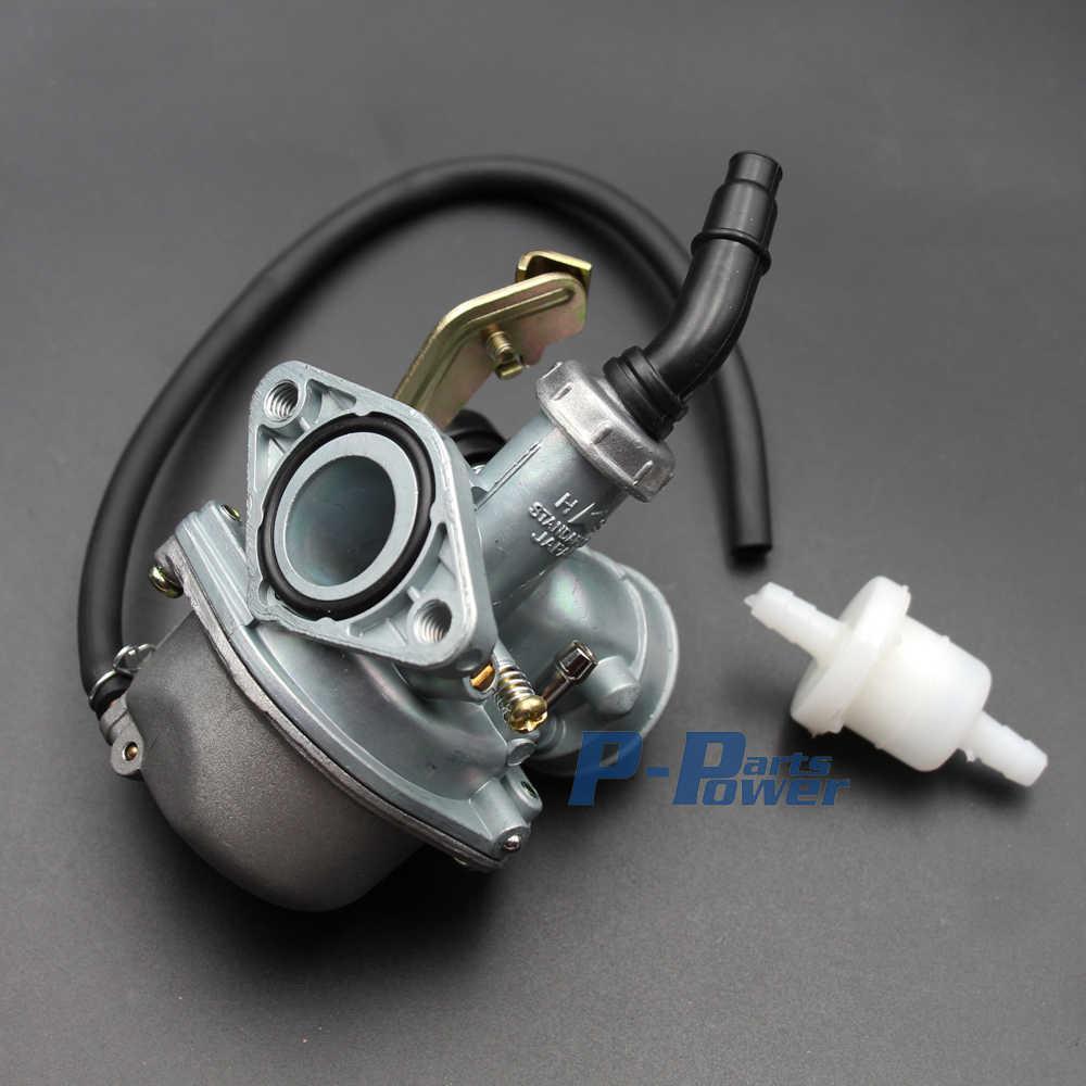 Carburetor PZ19 Carb 50 70 90cc 100 110cc 125cc ATV sunl NST Cable Choke