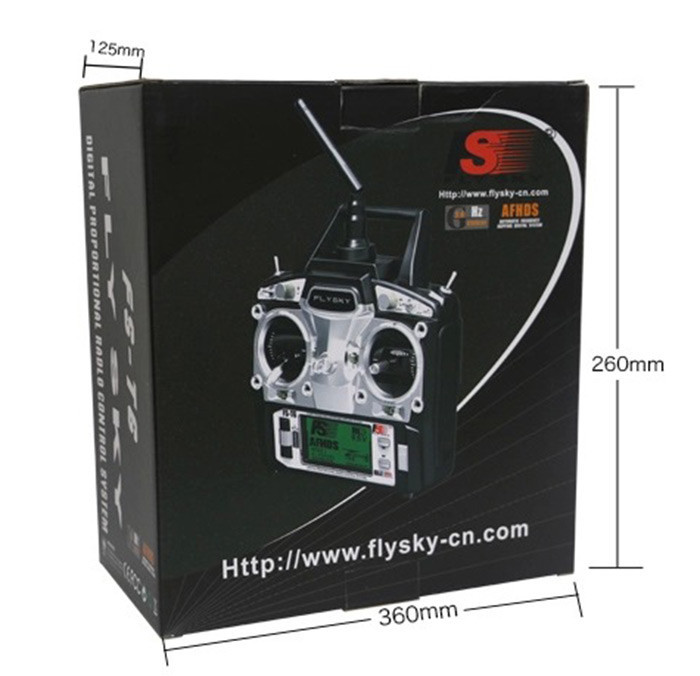 Flysky FS-T6 FS T6 2.4GHz 6CH Transmitter For RC Aircraft Models RC Quadcopter Helicopter With LED Screen Receiver