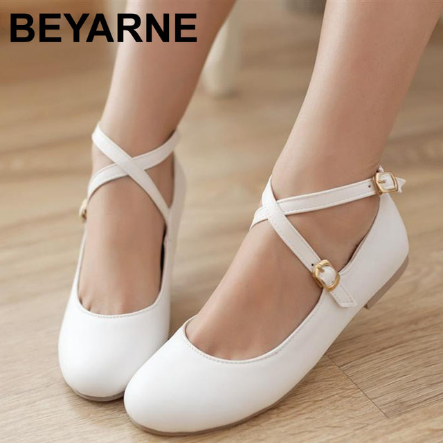 Free Shipping 2016 new fashion  leather women flat shoes and women's spring summer shoes