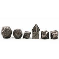 Dungeons Dragons 7pcs Set Creative RPG Dice D D Metal Dice DND Game Dice Different Color