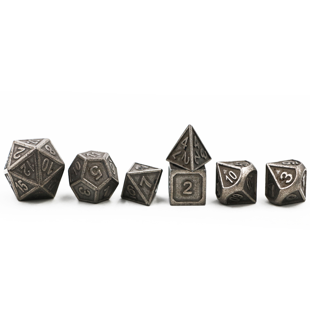 Dungeons & Dragons 7pcs/set Classic RPG Dice D&D Metal Dice DND Game Dice Different Color Nickel Carving Numbers free shipping 4 pcs fun acrylic dice love dice sex dice erotic dice love game toy couple gift