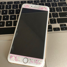 4.7/5.5 Korea Cartoon Pink Melody Print Clear Front Screen tempered glass Film