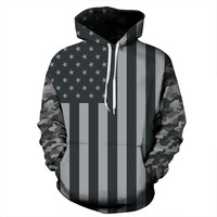 2018 Autumn Winter USA Flag Hoodies Men/women 3d Sweatshirts Print Striped Stars America Flag Hooded Hoodies Tracksuits Pullover