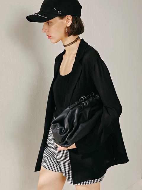 SNV Leather Dumpling Carry Bag