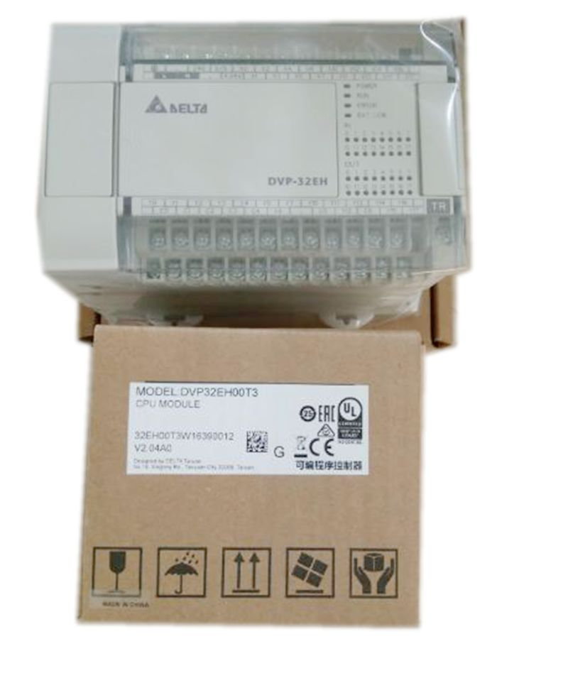 все цены на New Original DVP40EH00T3 PLC EH3 series 100-240VAC 24DI 16DO Transistor output онлайн