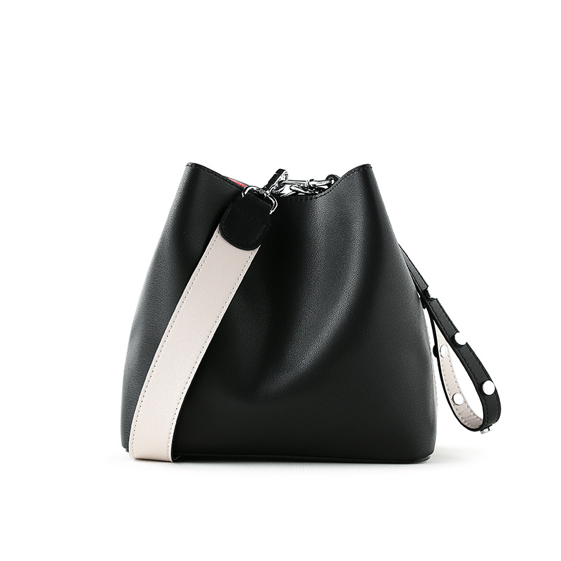 Genuine Leather Bucket Bag Small Crossbody Bags for Women Magnetic Buckle Fashion Bags Ladies Luxury Bags