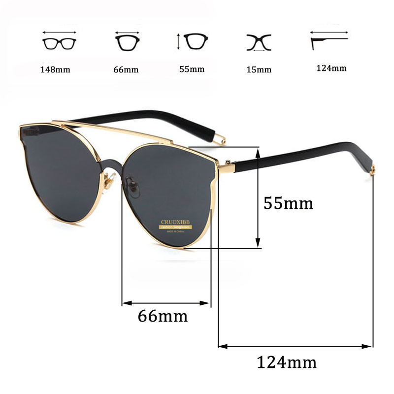9822f91f44db9 CRUOXIBB High quality Aviator Sunglasses Women Gold Double Deck Shades Pink  Mirroried Sun Glasses Hot Oculos De Sol Ray UV400-in Sunglasses from  Apparel ...