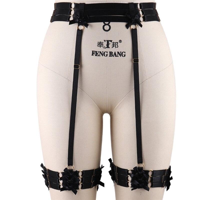 BODY CAGE Bondage Harness Garter Belt Black Elastic High Waist Stocking Suspender Bondage Exotic Apparel Prom Dress Rave Wear