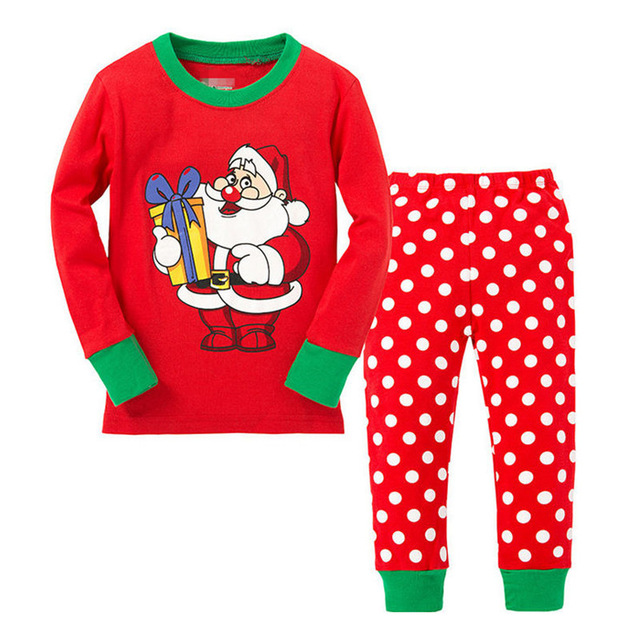 f8418db7c1 Christmas Baby Boys Girls Cartoon Pajamas SuitSanta New Year Kids Snowman  Reindeer Nightwear Children Sleepwear Set Clothing