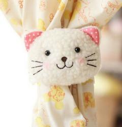 Fd2713 cartoon window curtain buckle clip hook tieback belt hook smile cat 1pc.jpg 250x250