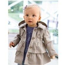 Hooyi Bebek Kız trençkotlar Çocuk Giysileri Kıyafetler Çocuklar Kapüşonlu Kız erkek Giyim Ceket Gri Hoodies Jumper Palto 1 5Year