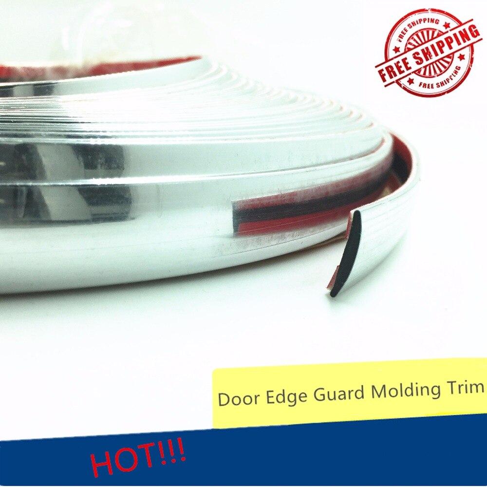 18 MM bricolage voiture fenêtres porte style moulage garniture automobile autocollant Chrome bande décoration avant gril pare-chocs corps