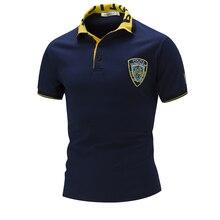 Новых людей способа polo shirt embroidery design бесплатная доставка с коротким рукавом рубашки 3 цвета M, L, XL, XXL A751