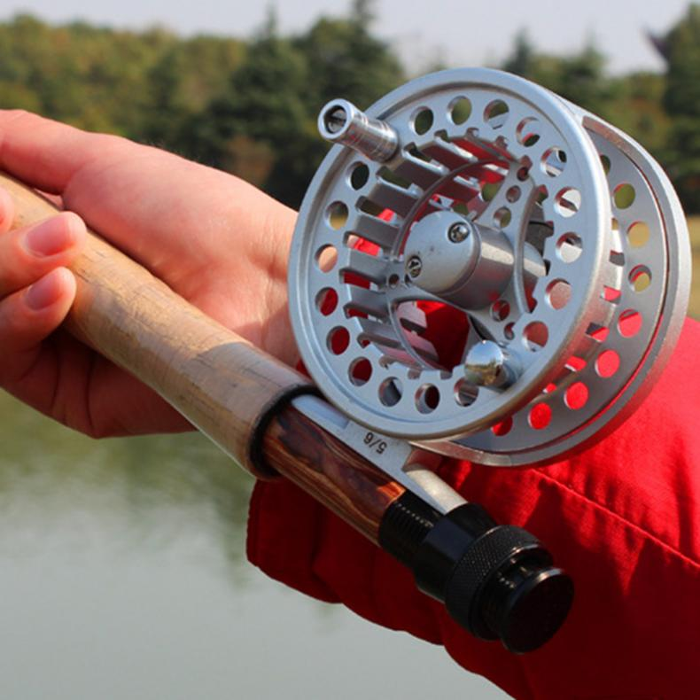 1:1 Aluminum Alloy Fly Fishing Reel 7/8 Large Former Ice Fishing Reel + 100ft 30.5m Fly Fishing Line