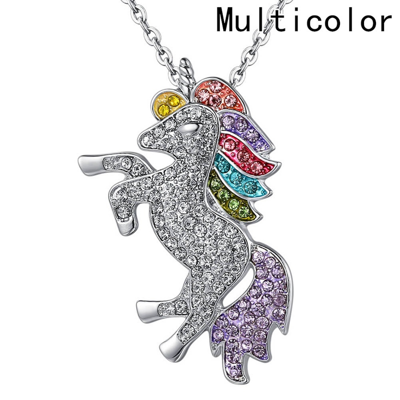 Unicorn Girls Rainbow Pendant