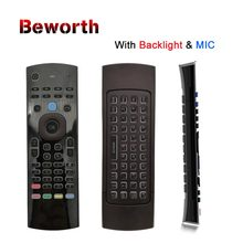 Rusia T3 Lampu Latar MIC 2.4G Fly Air Mouse dengan Mikrofon Mini Keyboard IR Belajar Remote Kontrol Nirkabel Gamepad Backlit(China)