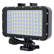 GoPro 8 Ultra lumineux 1800LM Photo Studio vidéo lumière lampe 3 Mode 5500K LED plongée lumière de remplissage pour GoPro Xiaomi Yi SJCAM caméra