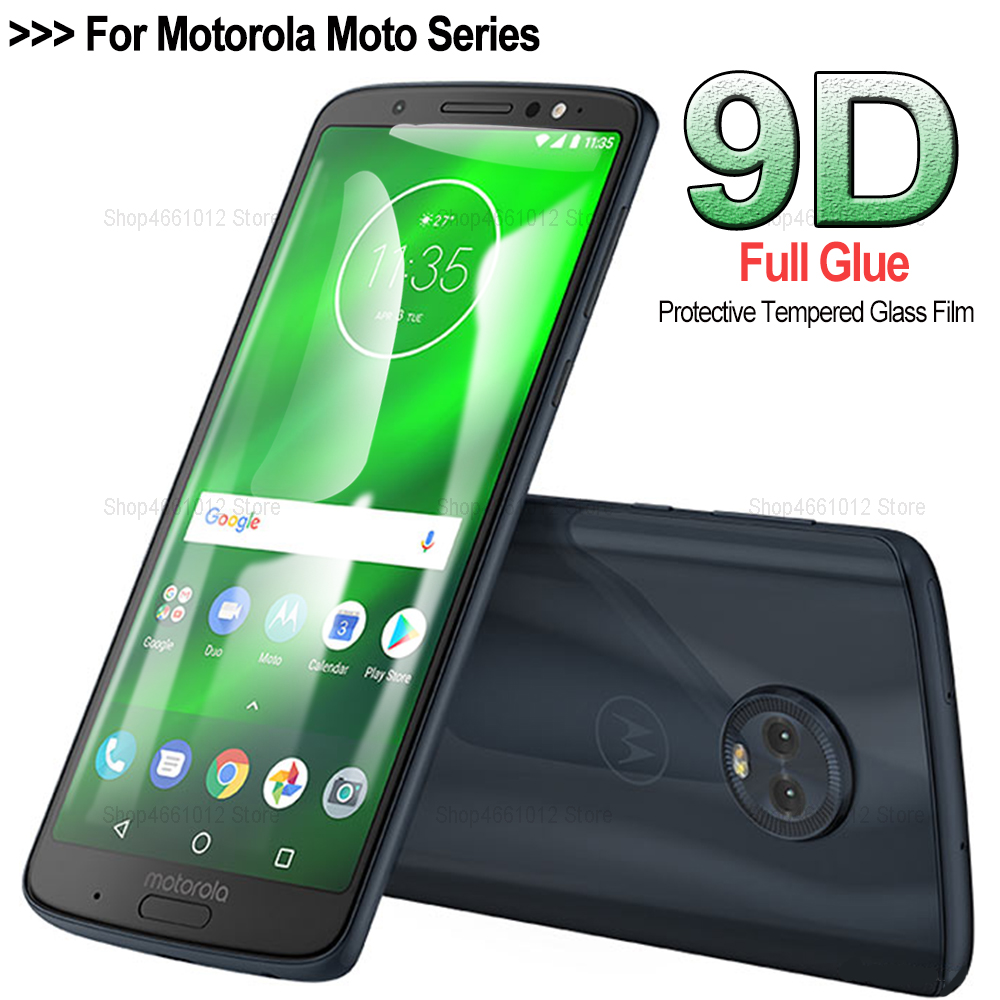 9D screen protector for Motorola Moto g7 power glass protective film cover on the for moto g7 g6 play e5 e4 plus tempered glass image