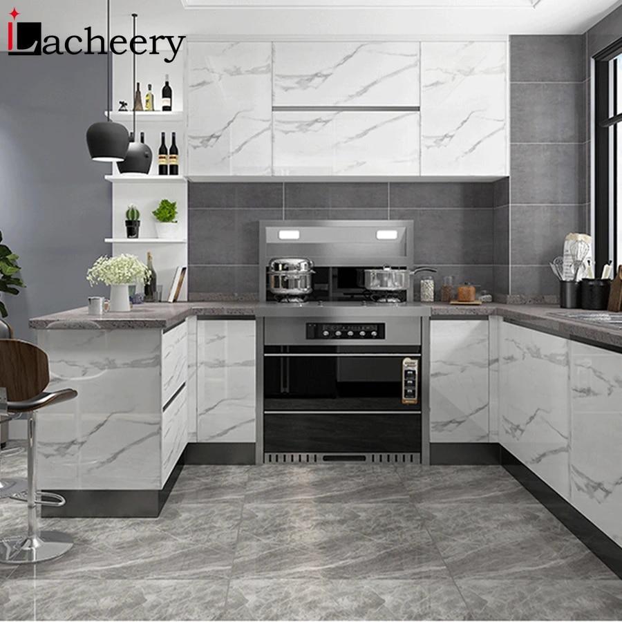 Modern Marble Self Adhesive Wallpaper Kitchen Cabinet Door Desktop Furniture Refurbished Stickers Vinyl Waterproof Contact Paper Wallpapers Aliexpress
