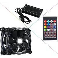 ir led DR12 3pcs Computer Case PC Cooling Fan RGB Adjust LED 120mm Quiet + IR Remote New computer Cooler Cooling RGB Case Fan CPU (3)