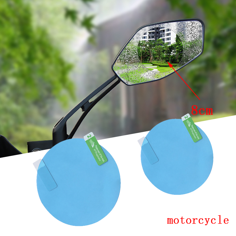 Automobiles & Motorcycles Exterior Accessories 2 Pcs Universal 80mm Motorcycle Rearview Mirror Rain Sticker For Harley Sportster Ryca Motors Other Motorcycle Models Relieving Rheumatism And Cold
