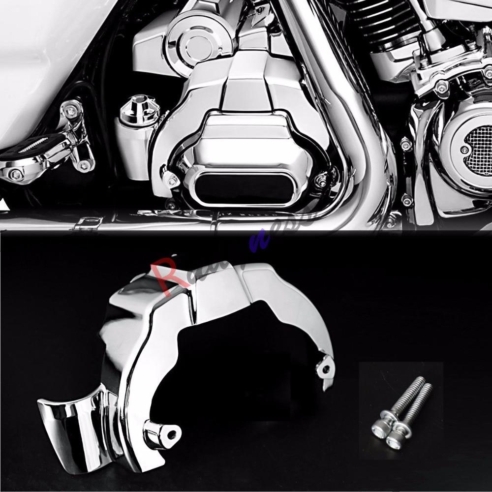 Chrome Transmission Shroud Covers For Harley Touring Street Glide Road King FLHX FLHR 2017 2019 Models