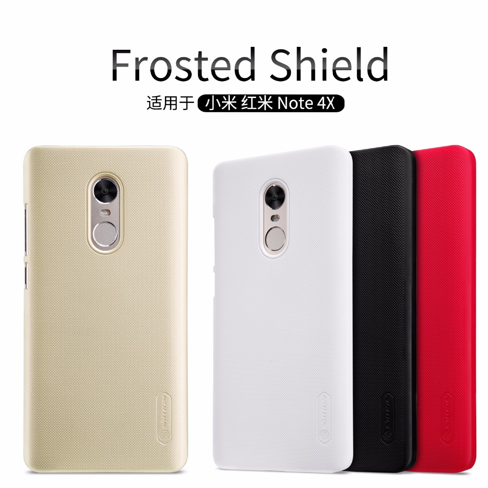 imágenes para 10 unids/lote Al Por Mayor de NILLKIN Súper Frosted Escudo Caso de La Contraportada Para Xiaomi Redmi Nota 4X (5.5 pulgadas) con Protector de Pantalla