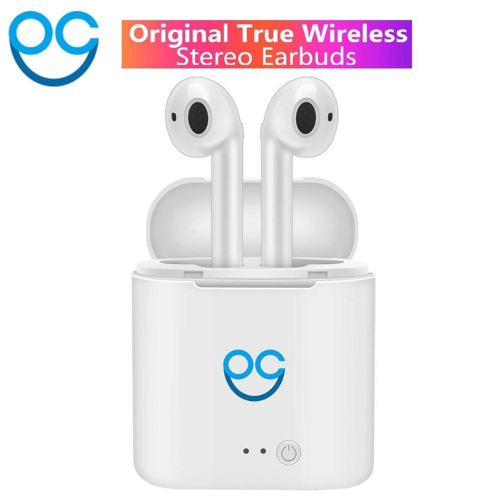 OGV I7s TWS Mini doble oreja auricular Bluetooth inalámbrico aire vainas auriculares Auriculares auriculares para aire Pod Iphone Android