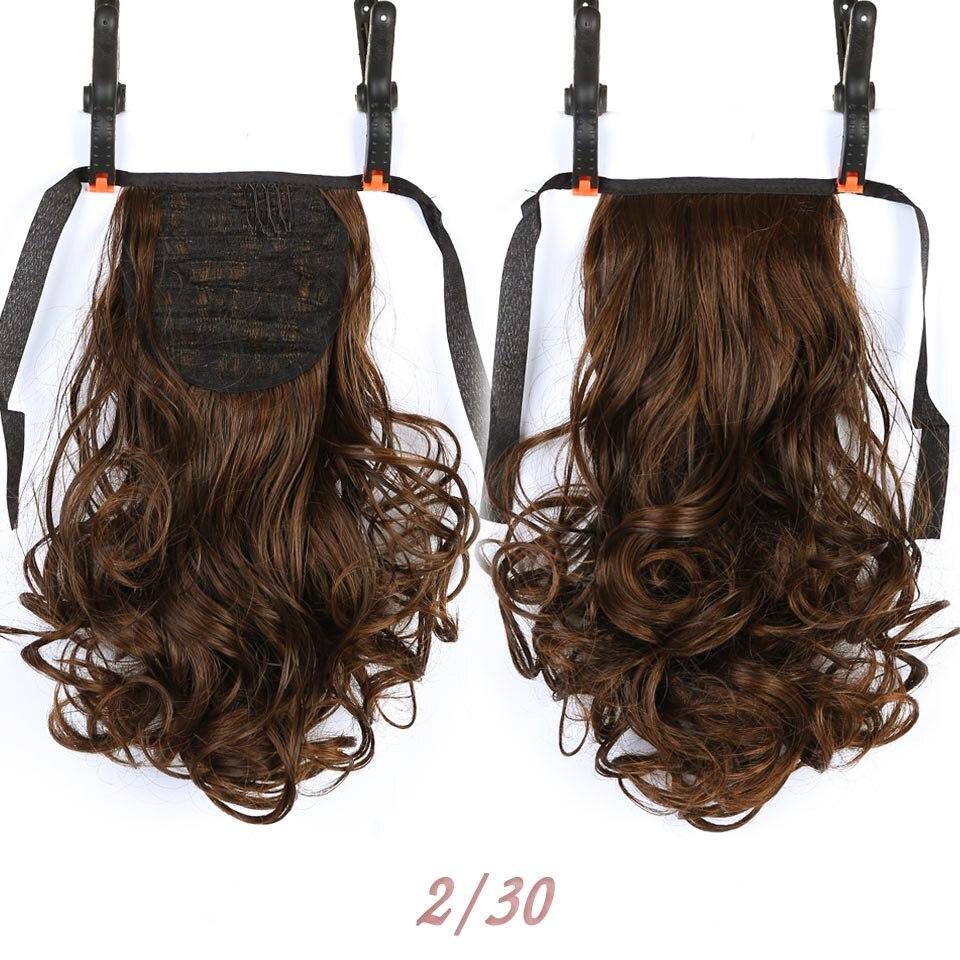 SHANGKE Short Clip Drawstring Curly Ponytail Hair Pieces - Syntetiskt hår - Foto 4