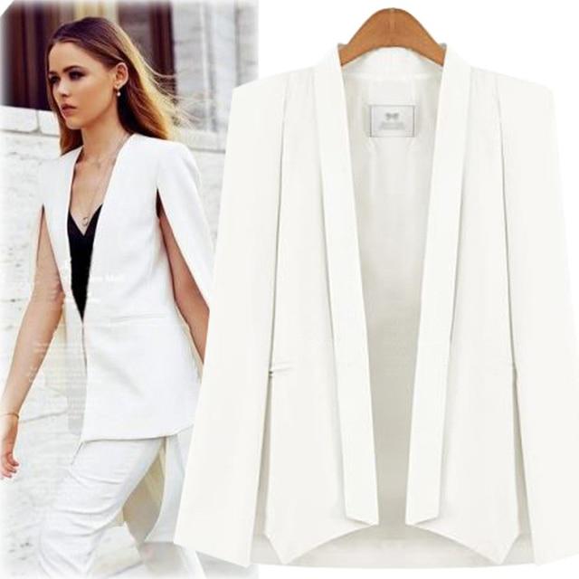 Chaqueta chaquetas de Las Mujeres Blancas blazers Negros