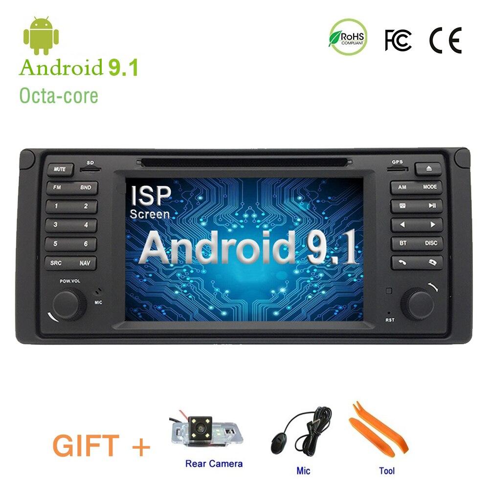 DVD player DO CARRO Para BMW E38 E39, IPS tela Android 9.1 GPS Navigation Stereo CAR Multimedia player, no Painel Do Carro Unidade de Cabeça de Rádio