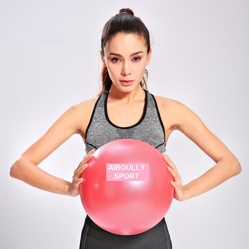 Small Yoga Ball 25cm multiple colors thickening popping-proof for pilates fitness muscle practice keep fit gym exercise