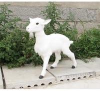 simulation white goat model polyethylene&furs sheep 70*20*65cm handicraft home garden decoration gift p0450