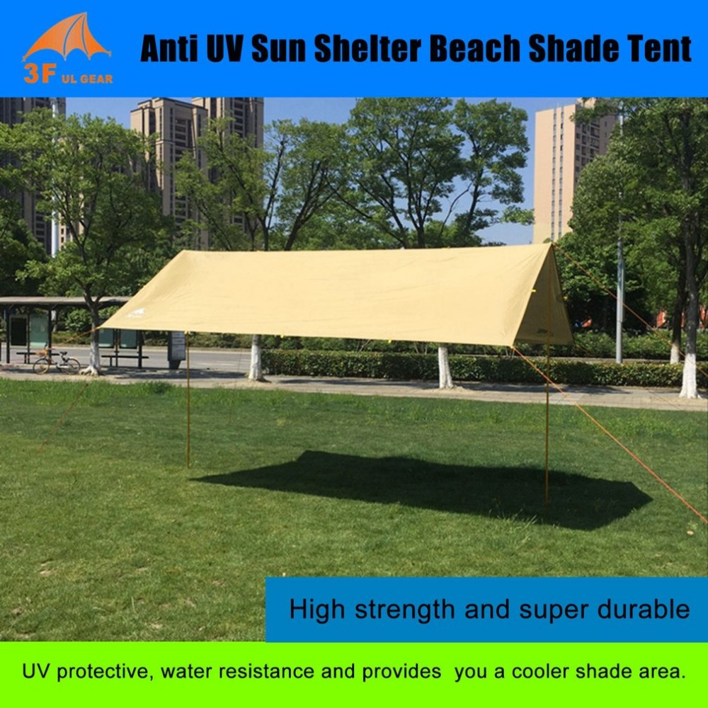 Anti UV Ultralight Sun Shelter Beach Shade Tent Outdoor Awning Canopy Waterproof 210T Taffeta Tarp Camping Sunshelter
