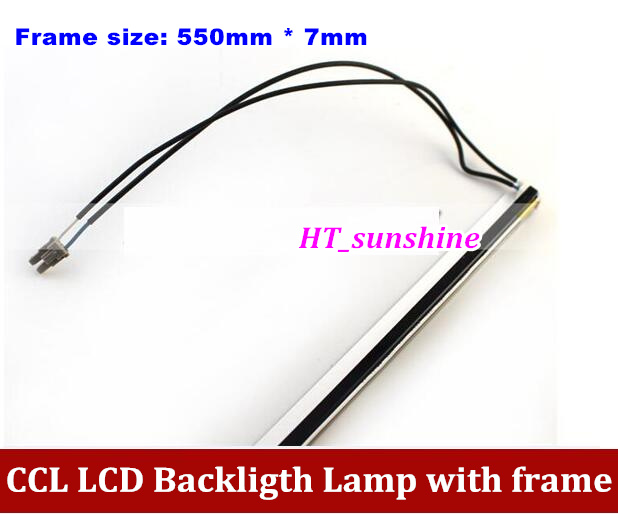 все цены на 20PCS Free Shipping dual lamps CCFL with frame,LCD lamp backlight with housing,CCFL with cover,550mmx7mm онлайн